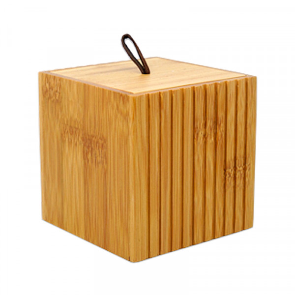 P&P Accessoires Wattedose aus Bambus