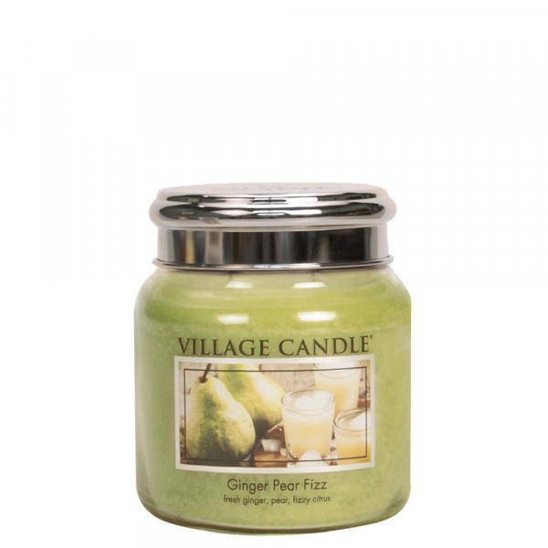 Village Candle Duftkerze Ginger Pear Fizz im Glas 411g