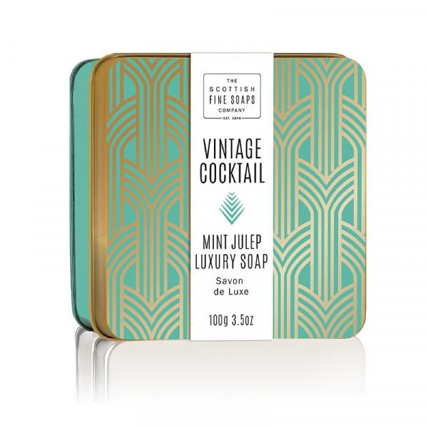 Scottish Fine Soaps Seife Vintage Cocktail Mint Julep in Dose 100g
