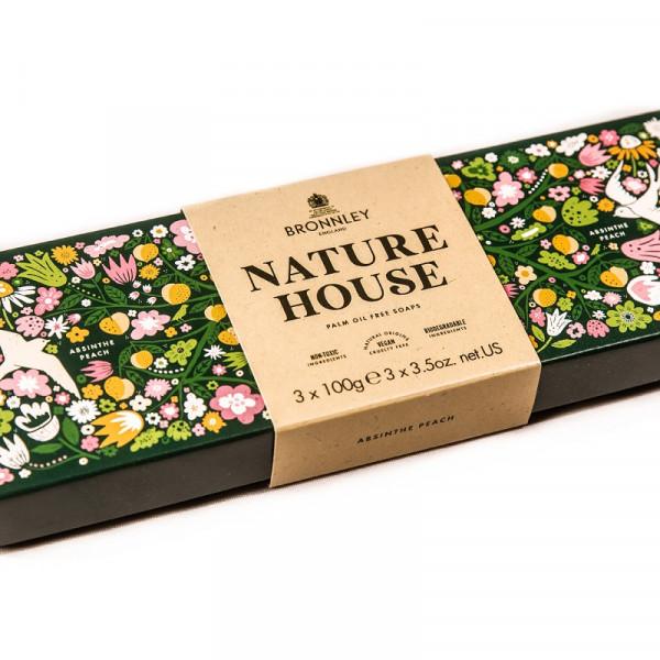 Bronnley Nature House Seife Absinthe Peach 3 x 100g