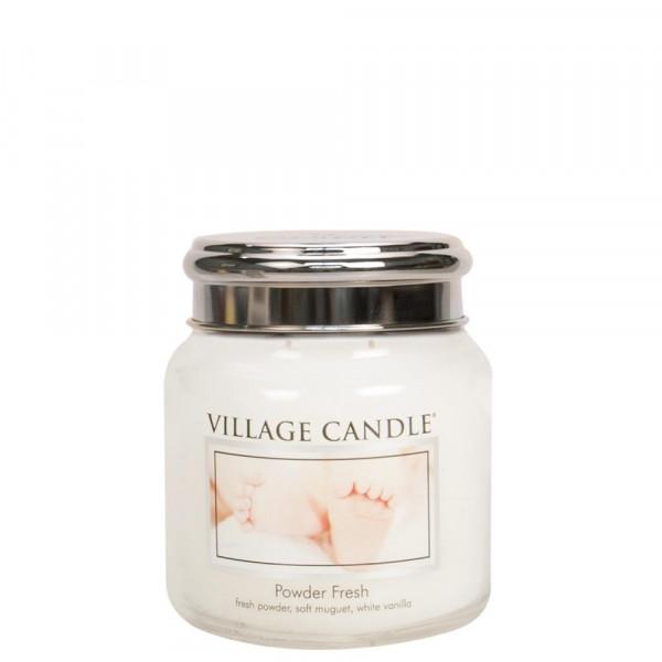 Village Candle Duftkerze Powder Fresh im Glas 411g