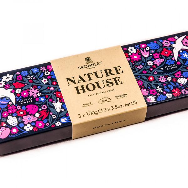 Bronnley Nature House Seife Black Tea & Peony 3 x 100g