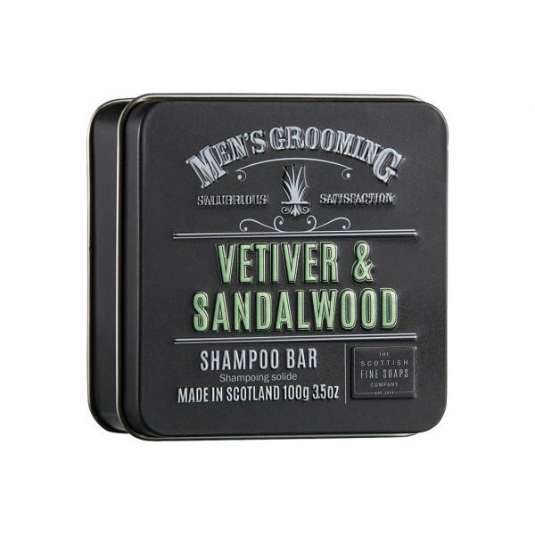 Scottish Fine Soaps Haarseife Vetiver & Sandalwood in Dose 100g