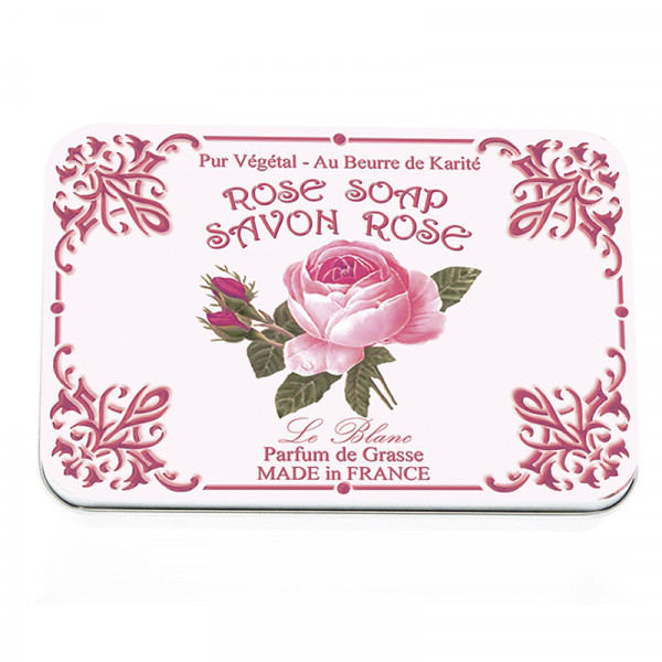 Le Blanc Naturseife Rose in Metallbox 6 x 25g