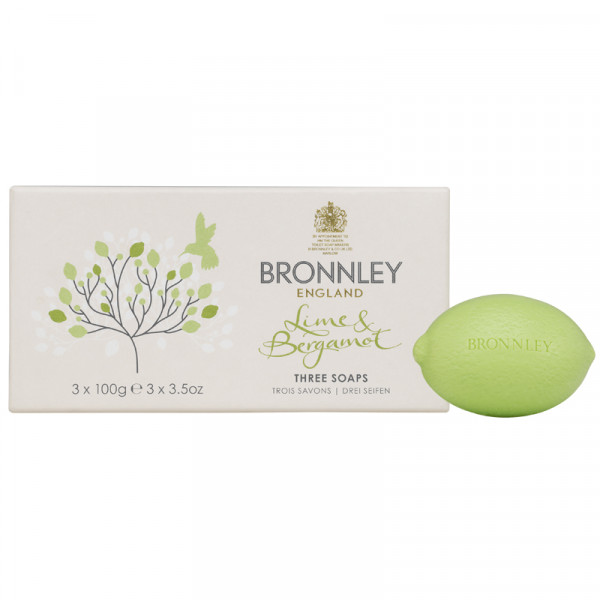 Bronnley Gästeseife Lime & Bergamot 3 x 100g