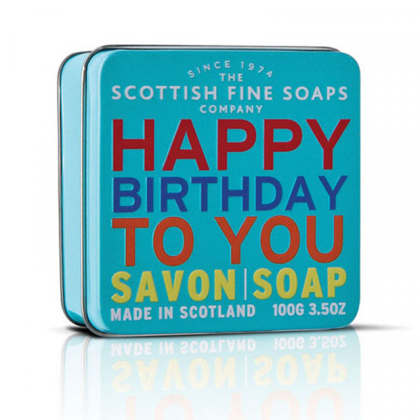 Scottish Fine Soaps Seife Happy Birthday in Dose 100g