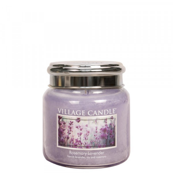 Village Candle Duftkerze Rosemary Lavender im Glas 411g