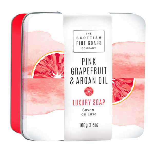 Scottish Fine Soaps Seife Pink Grapefruit & Argan Oil in Dose 100g