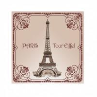Le Blanc Eiffelturm um 1900 Duftsachet Rose 8g