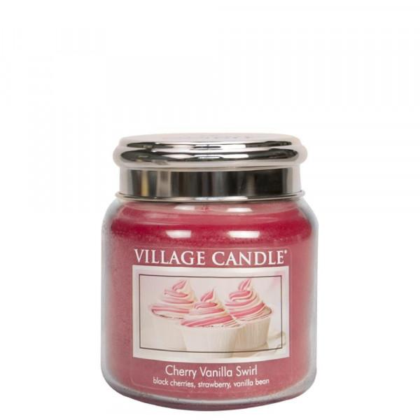 Village Candle Duftkerze Cherry Vanilla Swirl im Glas 411g