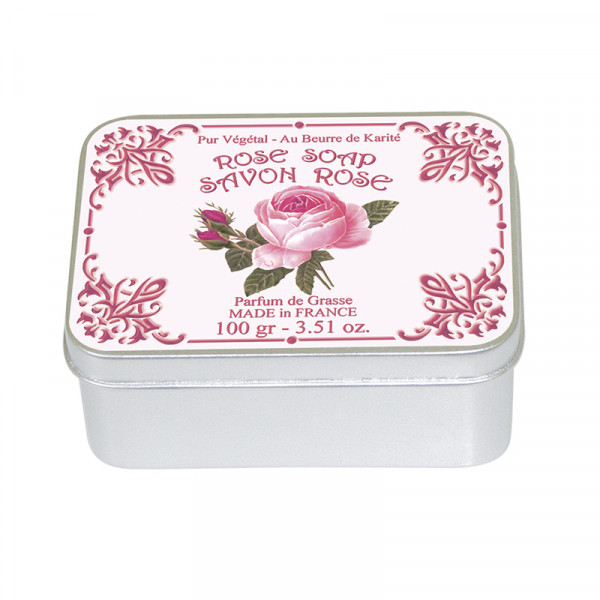 Le Blanc Naturseife Rose in Metallbox 100g