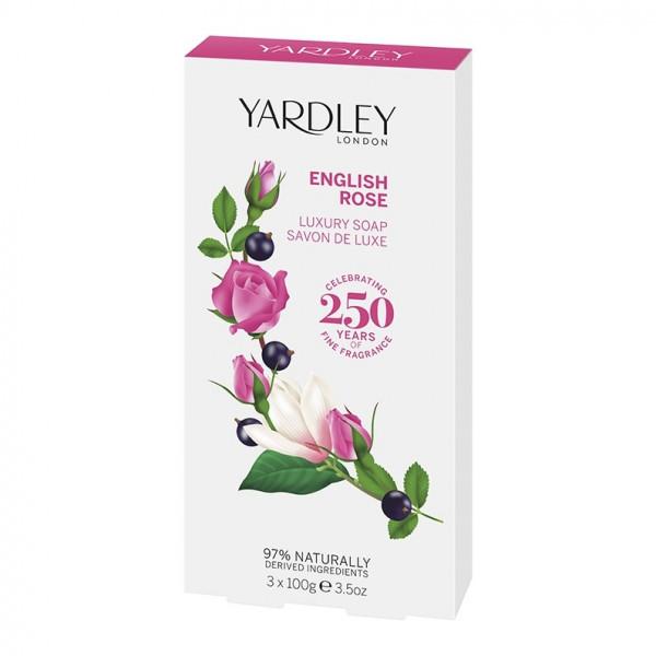 Yardley London Luxusseife English Rose 3 x 100g - VERPACKUNG BESCHÄDIGT