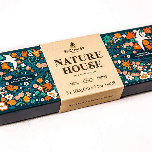 Bronnley Nature House Seife Mandarin & Orange Blossom 3 x 100g