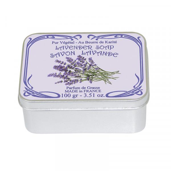 Le Blanc Naturseife Lavendel in Metallbox 100g