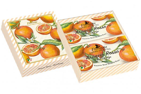Florinda Geschenkset 2 x Seife Arancio Rosso je 200g