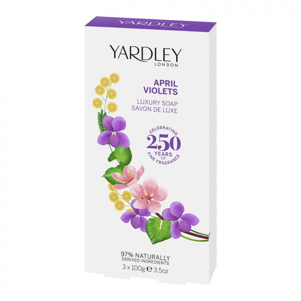 Yardley London Luxusseife April Violets 3 x 100g