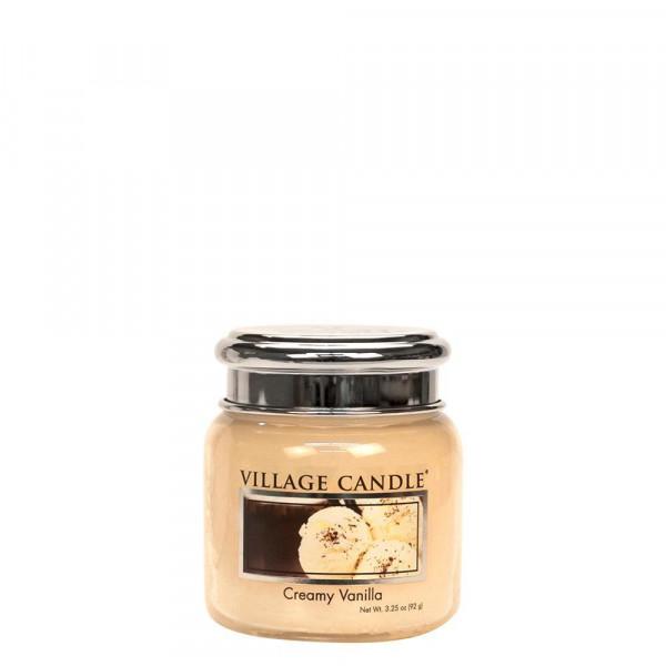 Village Candle Duftkerze Creamy Vanilla im Glas 110g