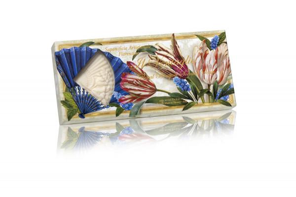 Fiorentino Seife Blumenbouquet mit Fenster 3 x 100g