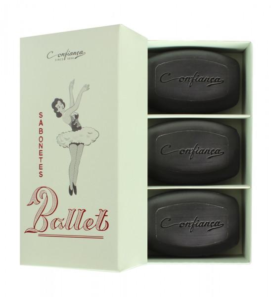 Confianca 1894 Geschenkset Ballet mit Orchidee-Seifen 3 x 140g
