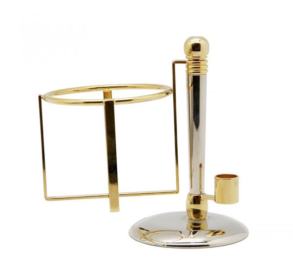 P&P Accessoires Rasierständer mit Schaumdosenhalter in gold