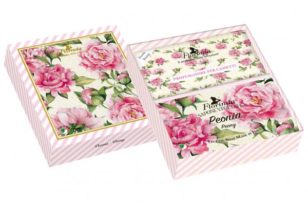 Florinda Geschenkset Seife & Duftsachets Peonia