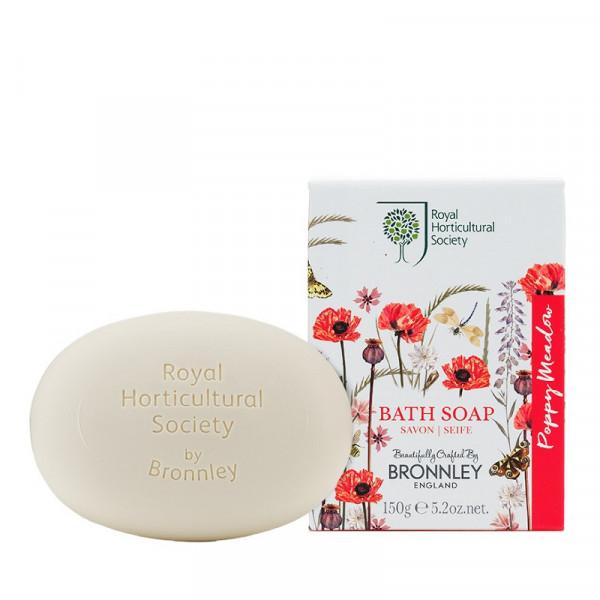 Bronnley Seife Poppy Meadow 150g - VERPACKUNG BESCHÄDIGT -