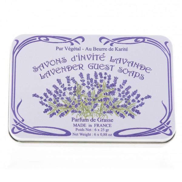 Le Blanc Naturseife Lavendel in Metallbox 6 x 25g - METALLBOX EINGEDELLT