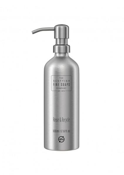 Scottish Fine Soaps wiederbefüllbare Pumpflasche aus Aluminium