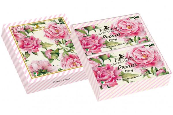 Florinda Geschenkset 2 x Seife Peonia je 200g