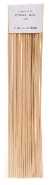 Lothantique 18 x Ersatzstäbchen für Diffuser, natur 26cm