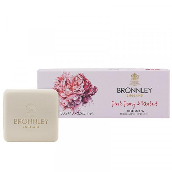 Bronnley Gästeseife Pink Peony & Rhubarb 3 x 100g