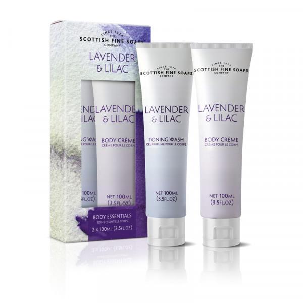 Scottish Fine Soaps Duschgel & Körpercreme Lavender & Lilac je 100ml